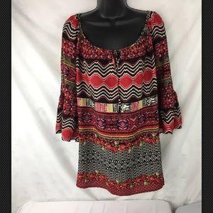 Cato Womens Multicolored Blouse, Size 18/20W